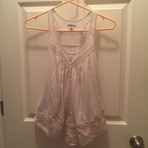American Eagle Outfitters Flower Lace Tank